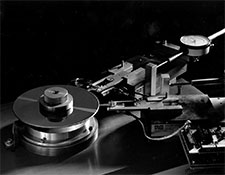 Photograph of an old-style  hard disk,<br />
