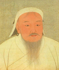 Photo of painting of Genghis Khan