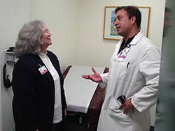 Photo of Dr. Margaret McCahill and Octaviano Roges, M.D.
