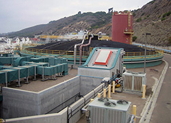 Photo of San Diego's Point Loma Wastewater Treatment Plant