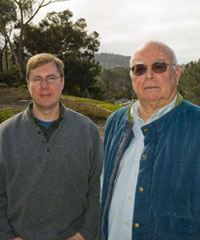 Photo of research marine physicist Tim Barnett and programmer/analyst David Pierce