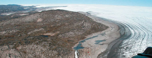 Photo of the Greenland's Pakitsoq ice margin