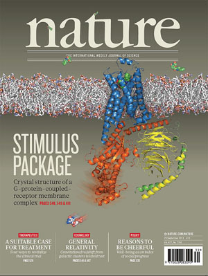 protein nature cover coupled structure complex receptors magazine molecular vital therapeutic gpcrs findings revealed possibilities september proteins newly illustrate were