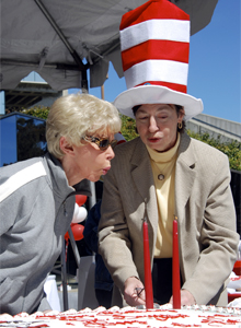 Chancellor Puts On Her Reading Hat To Celebrate Dr Seuss
