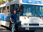 UCSD shuttle and driver (Photo / Victor W. Chen)