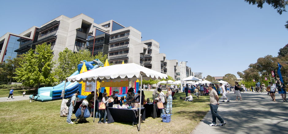 Warren Mall was home to the children's zone, green car show and alumni beer garden.