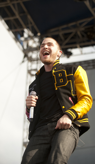 Mike Posner performed on the Main Stage during Sun God Festival.