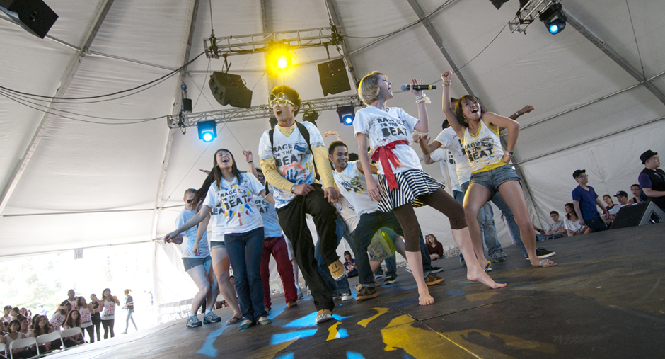 The festival showcased several UC San Diego student acts and talents.