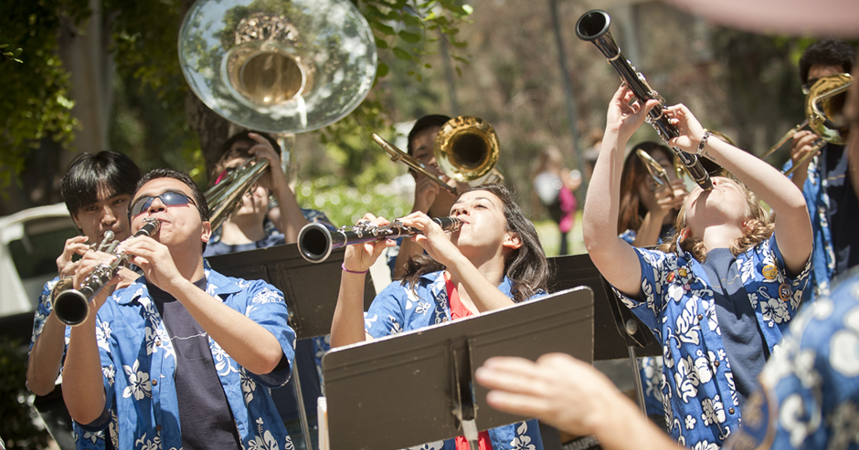 UCSD's Pepband played for the event.