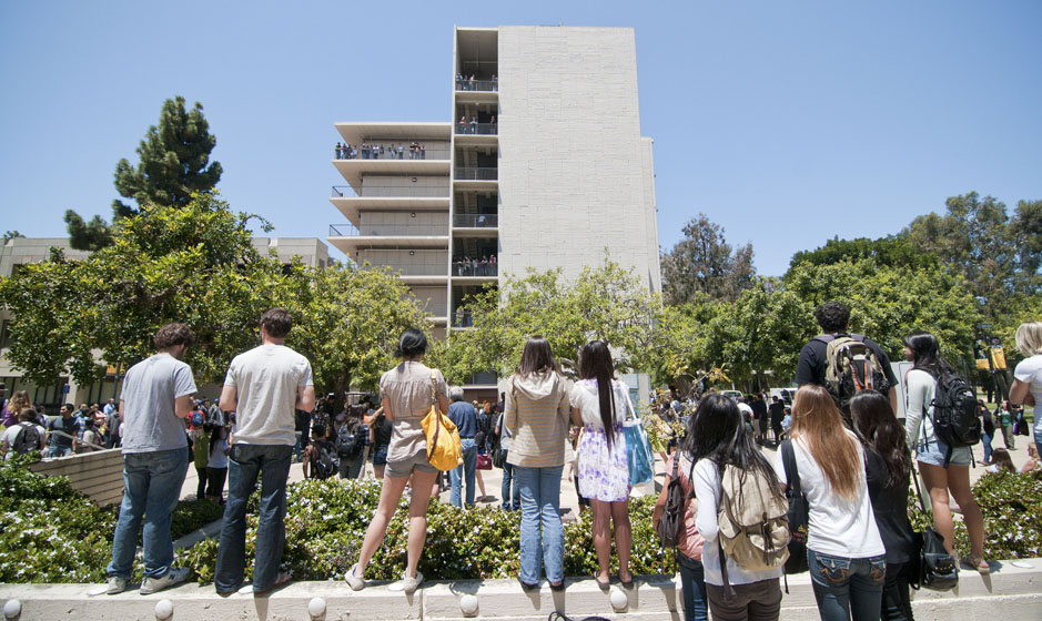 Hundreds of students showed up to witness this year's watermelon drop.