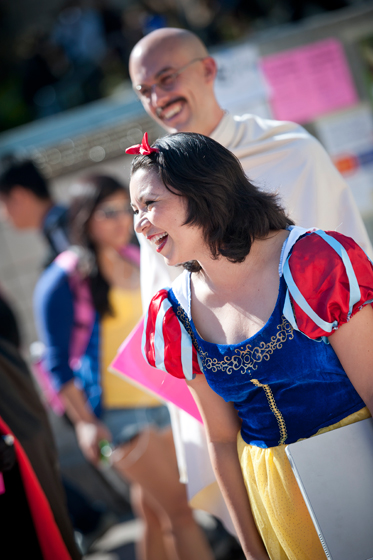 A contest participant dresses as Snow White.