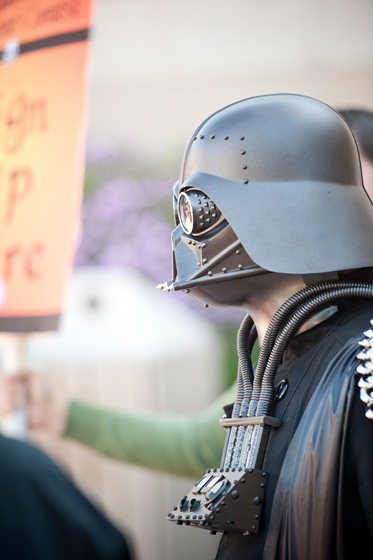 A participant dresses up as Steam Punk Darth Vader.