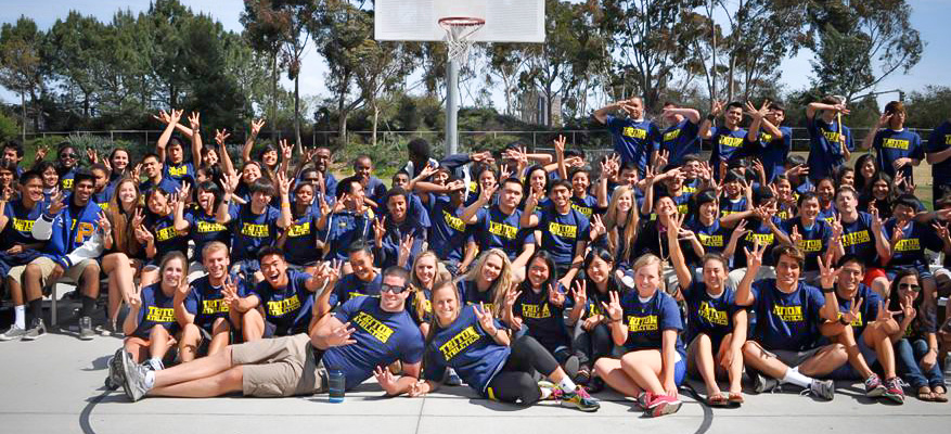 "Leading up to Earth Week, UC San Diego's student organization ""Geared Up"" visited the Preuss School UCSD to donate used sportswear to young Tritons."