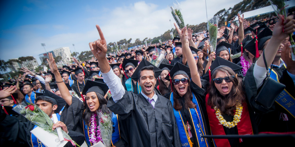 Thousands of students celebrated graduation at UC San Diego's commencement ceremonies over the weekend. A total of 8,182 undergraduate and graduate students received their diplomas during the campus's 11 different ceremonies. <br> <br>Photos by Erik Jepsen/UC San Diego Publications