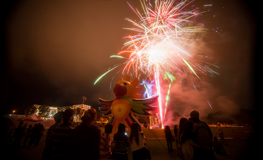 UC San Diego's commencement weekend kicked off with the university's fifth annual All Campus Graduation Celebration at 7 p.m., Friday, June 15. The all-campus event featured a dinner and fireworks show.