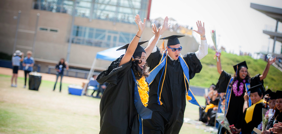 Revelle students celebrate during the graduation ceremony.