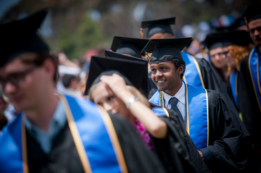 Mohamud Qadi graduates from Revelle College. Qadi will enter medical school at Johns Hopkins University this fall.