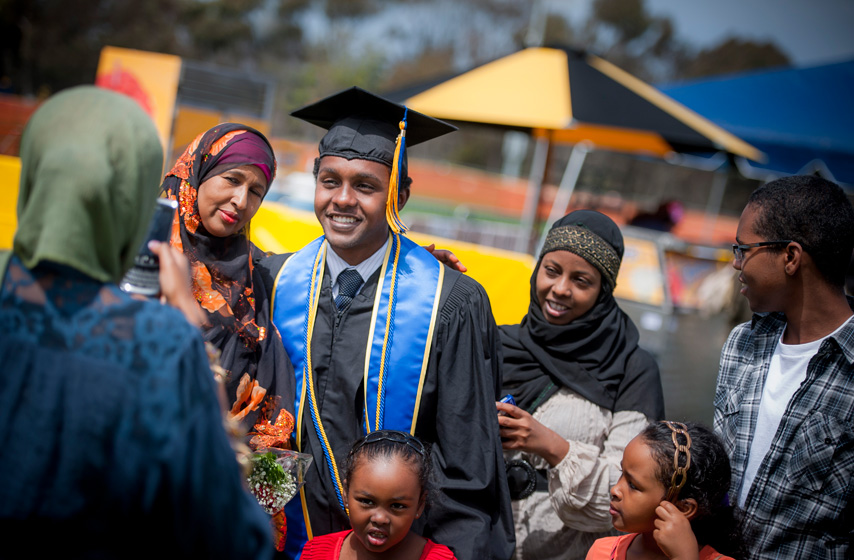 One of eleven children, Qadi and his family are originally from Somalia.
