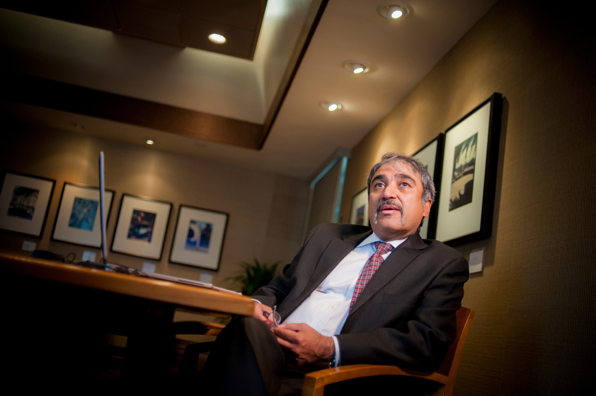 UC San Diego's eighth chancellor, Pradeep Khosla, arrived on campus August 1 for his first official day as chancellor. <br> <br>Photos by Erik Jepsen/UC San Diego Publications