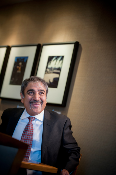 The alumni gave Chancellor Khosla some words of advice and encouragement as he starts his tenure on campus.