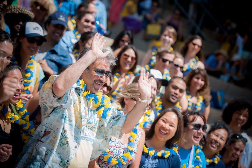 UC San Diego's new chancellor received a near rock-star welcome as he greeted the nearly 4,000 staff members who turned out at the annual UC San Diego All Staff Picnic Friday. <br> <br>Photos by Erik Jepsen/UC San Diego Publications