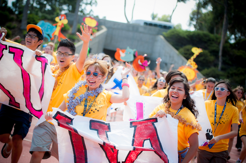 Thousands of students turn out for Welcome Week, an annual tradition at UC San Diego. <br> <br>Photos by Erik Jepsen/UC San Diego Publications