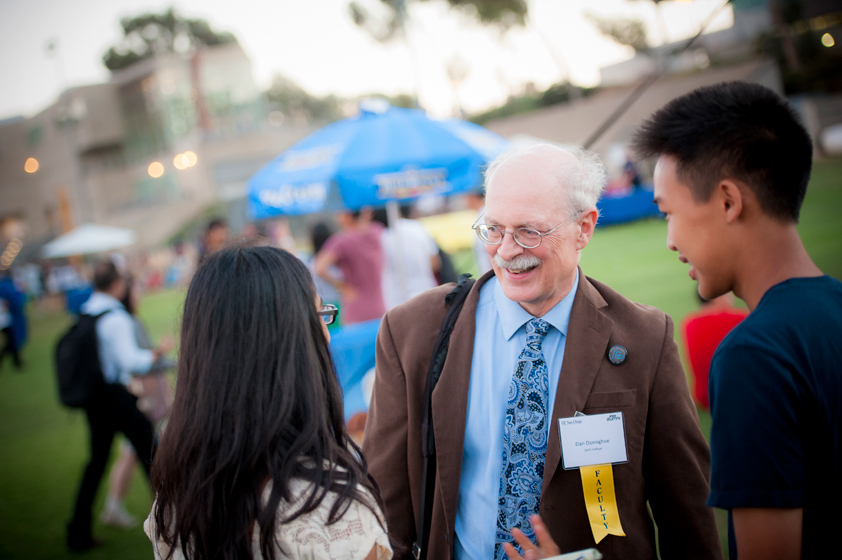 UC San Diego faculty were in attendance and available for encouraged student questions following the Welcome Convocation.