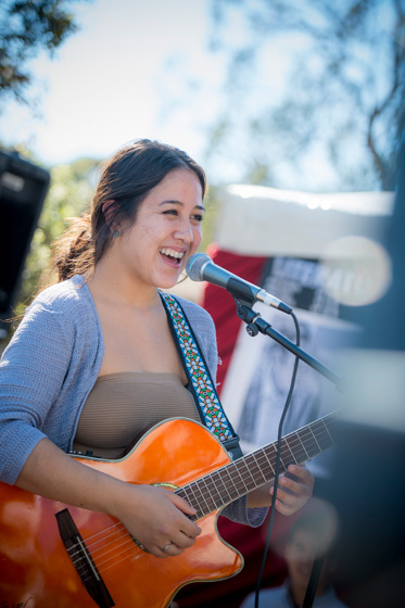 UC San Diego's Division of Arts and Humanities booth featured performances from actors, dancers and musicians from the department of theatre and dance and the department of music.