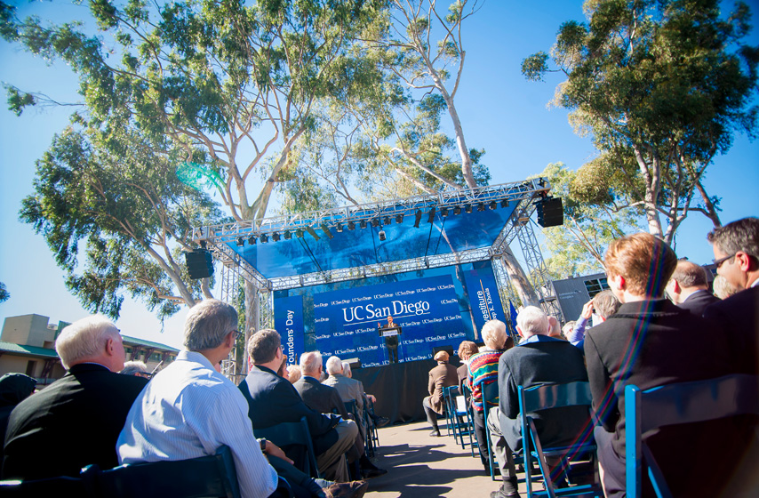 Triton family gathers at Founders' Day to witness history in the making as Pradeep K. Khosla was officially named UC San Diego's eighth chancellor. <br><br>Photos by Erik Jepsen/UC San Diego Publications