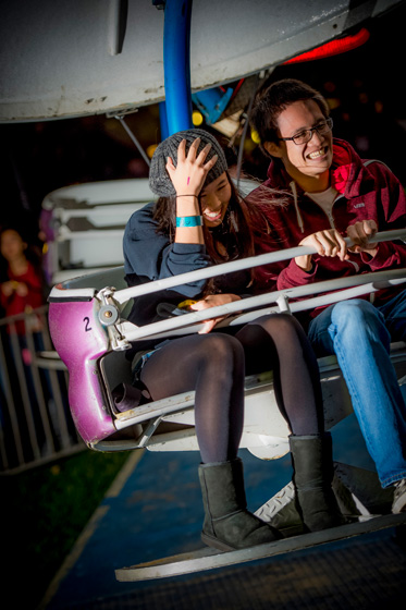 Thrill seekers ride the Paratrooper at Hullabloo.