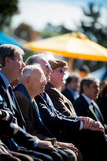 Founding faculty and staff participate in the Founders' Day celebration.