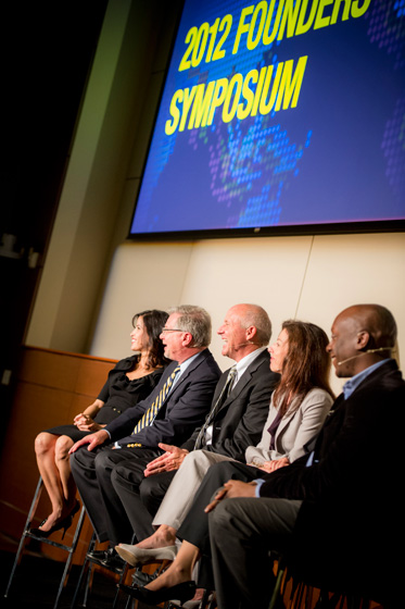 The Founders' Symposium featured six innovative faculty members offering brief talks about world-changing research happening on our campus.