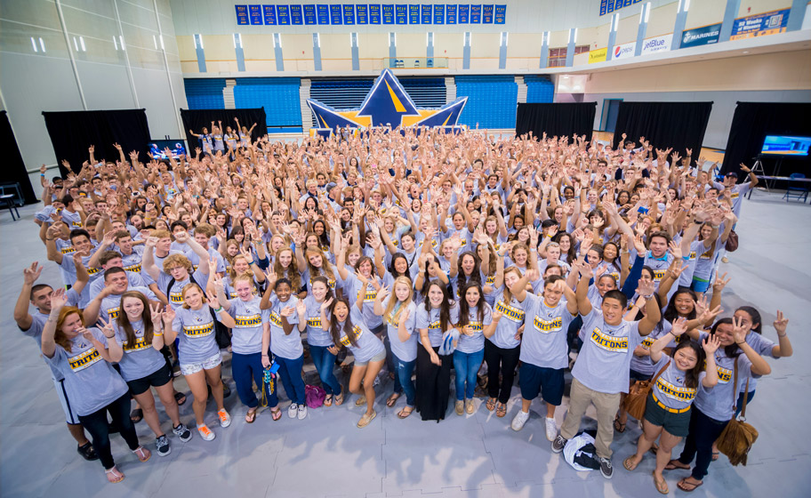 UC San Diego's 600-plus student-athletes gathered two days before the start of fall classes.