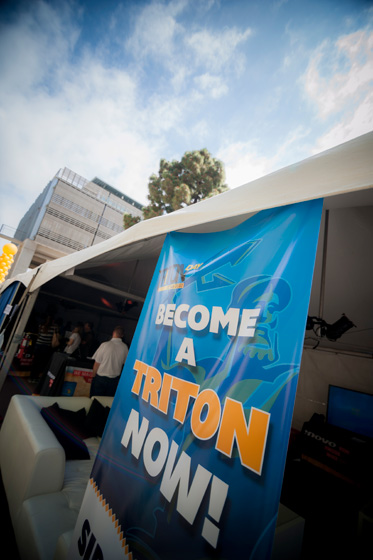 Newly admitted students could accept their offer to attend UC San Diego by submitting their intent to register at the Lenovo Lounge.