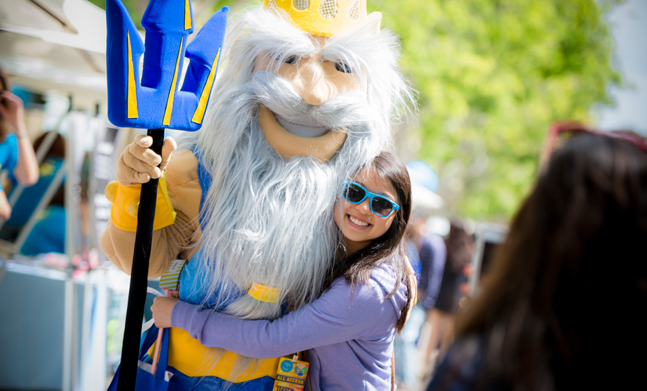 Admitted students and their families and members of the campus and local community gathered to take part in the day's events and activities, which ranged from college tours to student organization fairs and open houses.