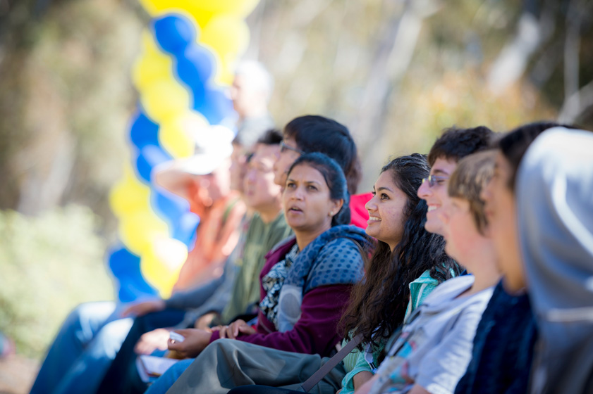 Admitted students took guided tours to learn about UC San Diego's traditions, student life, history, public art and architecture.