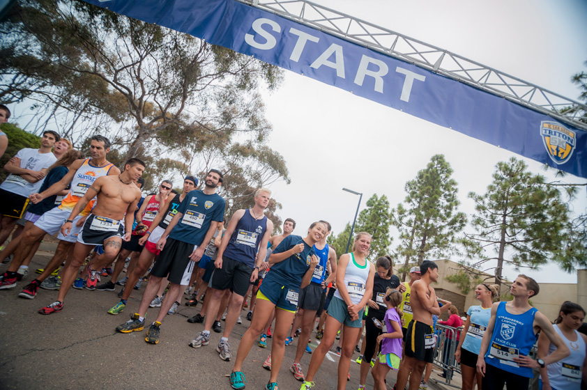 More than 2,500 alumni, faculty, staff, students and community members returned to UC San Diego for the Triton 5K.   <br><br>Photos by Erik Jepsen/UC San Diego Publications