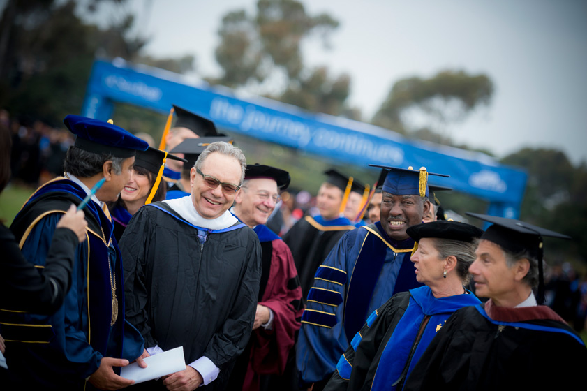Comedian Lewis Black spoke with 1,200 graduating Thurgood Marshall College students as part of UC San Diego's 2013 commencement series.
