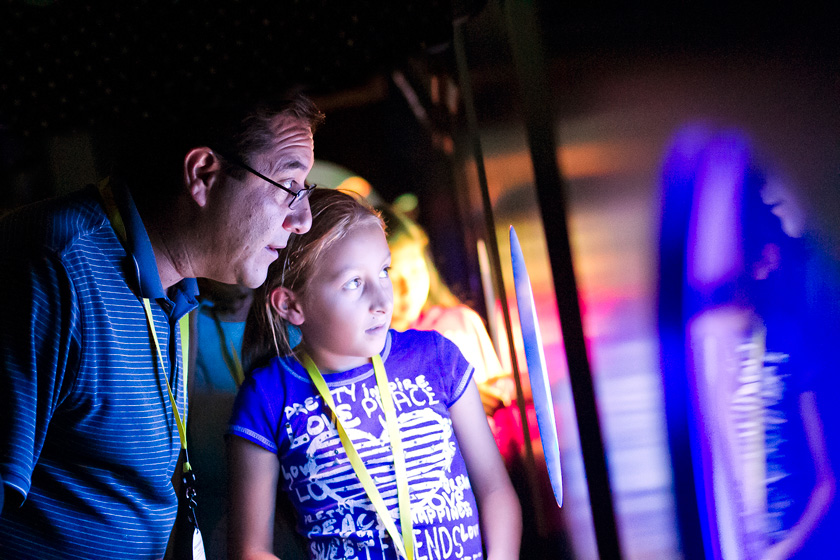 In addition to a catered dinner, live music and a spectacular sunset view, families were invited to explore the exhibits at the Birch Aquarium during the signature event Night at the Aquarium.
