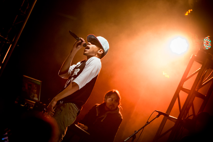 Undergraduates packed Town Square during Hullabaloo on Nov. 15 to watch performances by musical artists Chance the Rapper, Kennedy Jones, Ali and Jun.