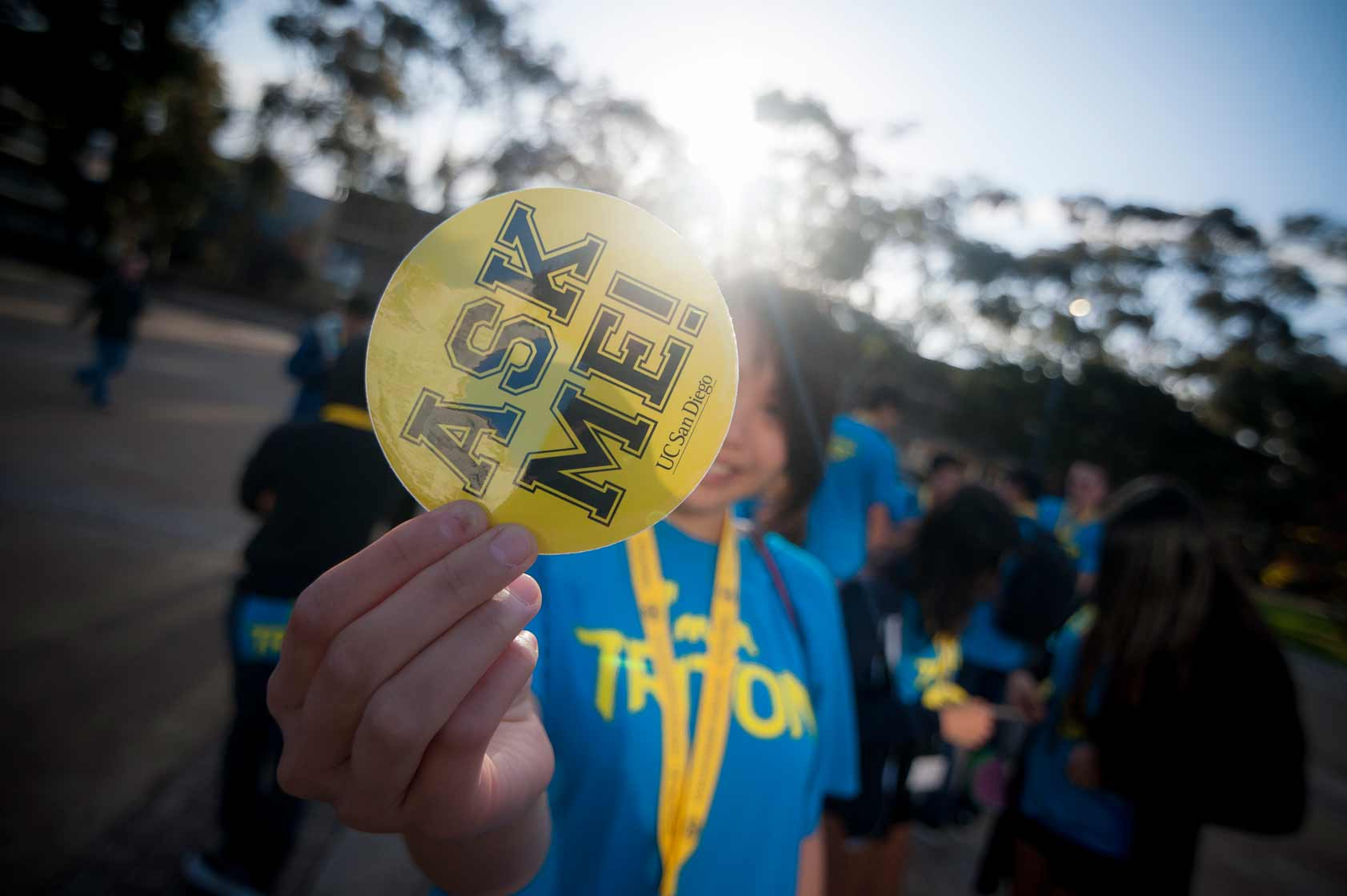 Hundreds of volunteers arrived on campus Saturday to welcome newly admitted freshmen to UC San Diego for Triton Day. <br><br>Erik Jepsen/UC San Diego Publications
