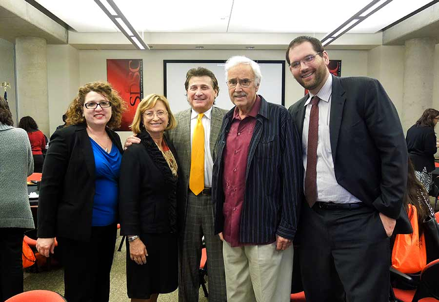 Photo: From Rachel Gregg, Toni Atkins, Sandra Brown, Jeffrey Krinsk, John Burton and Travis Knowles