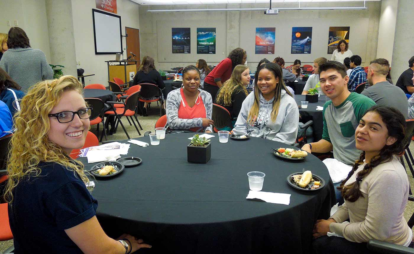 Photo: Students from local community colleges came to UC San Diego to learn about the campus.