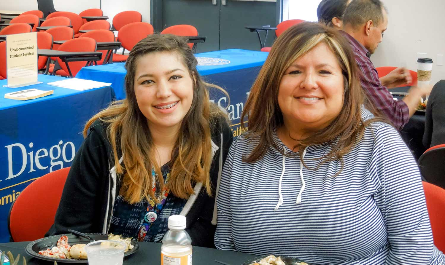 Photo: From left, Southwestern College student Hali Urista and Kimi Rodriguez-McSwain, adjunct counselor at Southwestern College.
