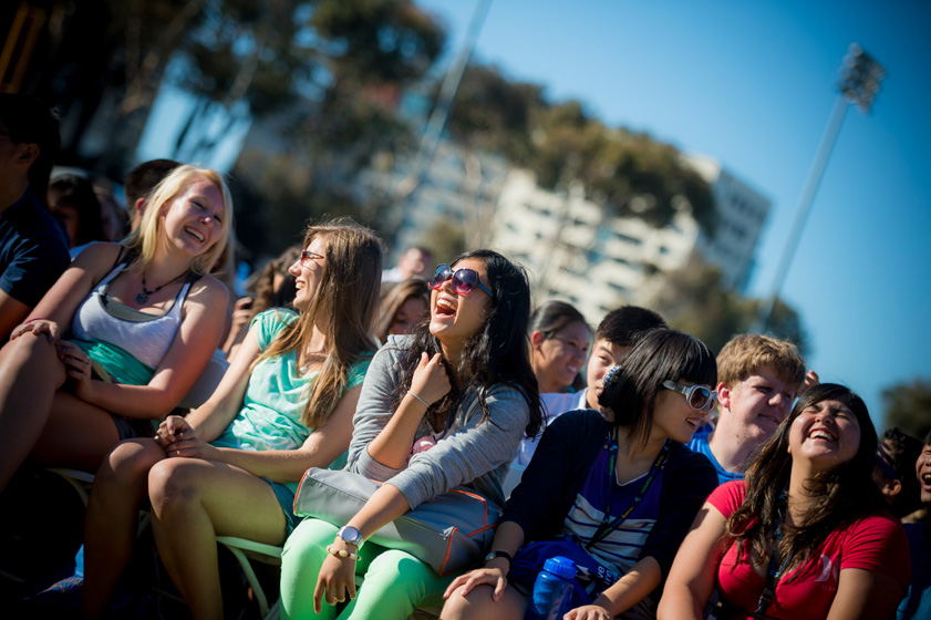 1st year and transfer students gathered on RIMAC Field for the Welcome Convocation.