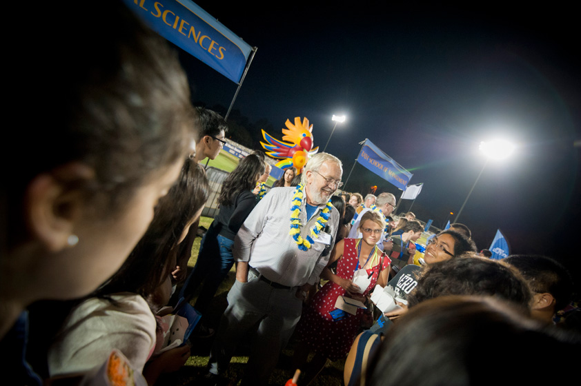 UC San Diego faculty were in attendance and available for student questions following the Welcome Convocation.