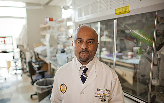 <p>Santosh Kesari, MD, PhD, director of neuro-oncology at UC San Diego Moores Cancer Center.</p>