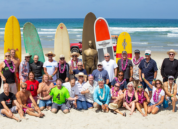 Surfing legends group photo 2018