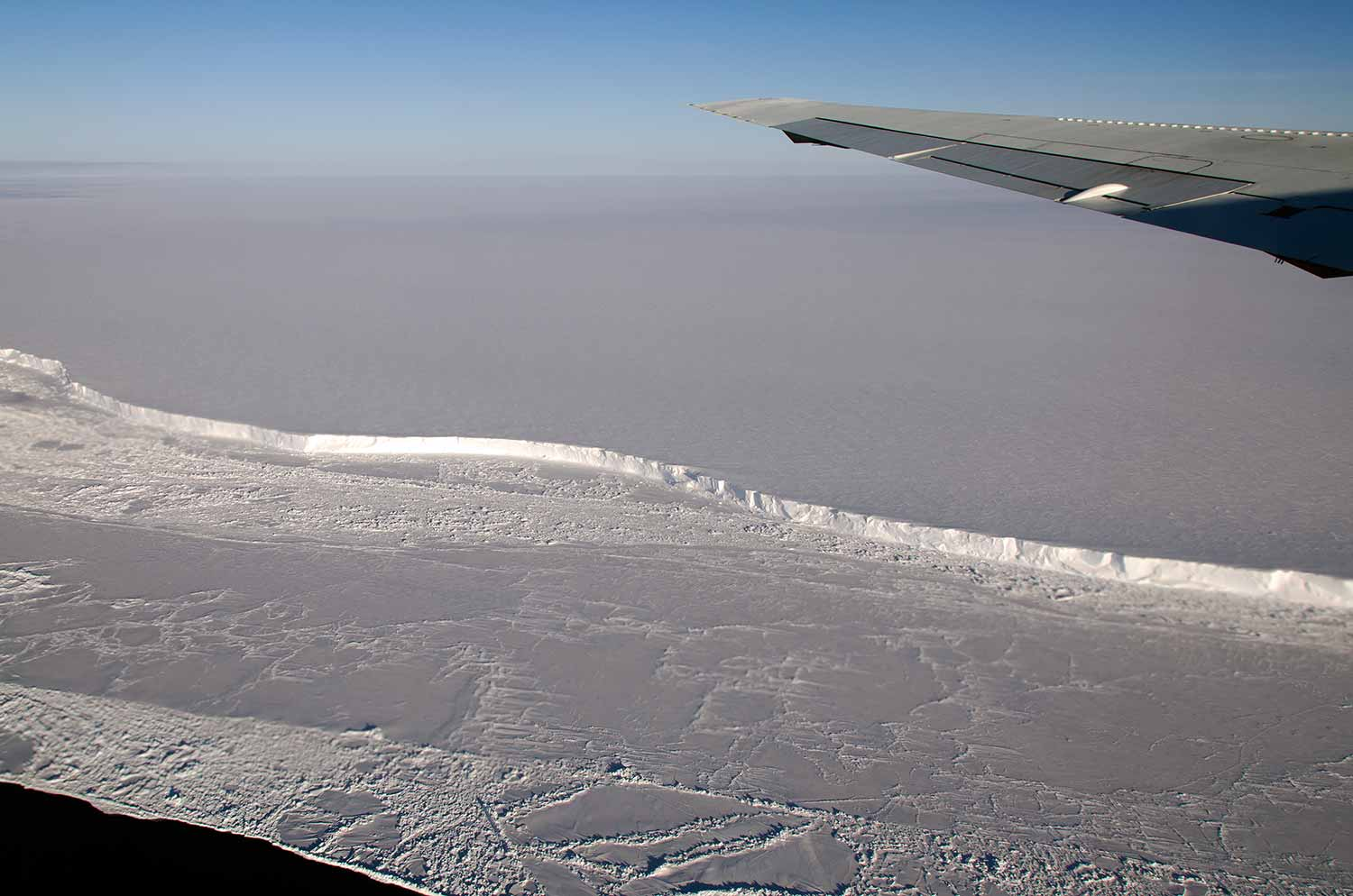 Photo: Antarctica's Brunt Ice Shelf photographed in October 2011