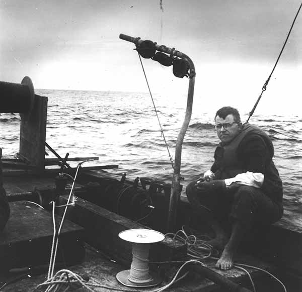 "Image: Charles ""Chip"" Cox at sea"
